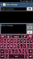 Screenshot of Pink Zebra Keyboard