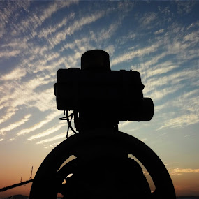machine by Shashank Sharma - Landscapes Sunsets & Sunrises ( contrast, clouds, motor, sunset, formation )