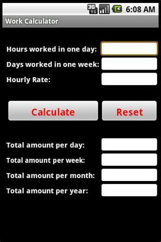 Work Calculator