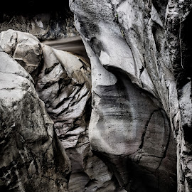 abstract face by Ade Rizal - Abstract Patterns ( abstract, nature, waterfall, travel, lombok, landscape, rocks )