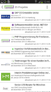 Freelance.de - screenshot