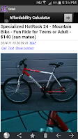 Screenshot of CNT craigslist app