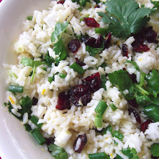 Cranberry Rice Salad with Orange, Soy and Ginger Dressing