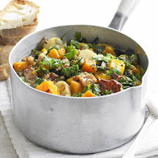 Kale, Pumpkin & Bacon Pot