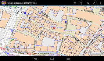 Screenshot of Freiburg im Breisgau City Map
