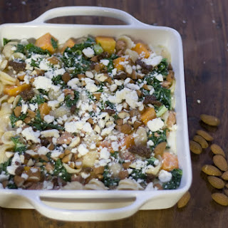 Butternut Squash, Kale and Sausage Baked Pasta