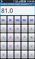 Screenshot of Basic & Simple Calculator
