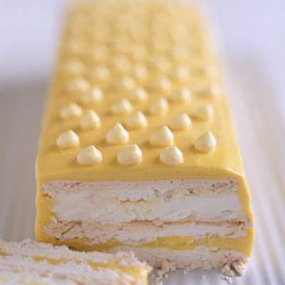 Frozen Passion Fruit Meringue Cake