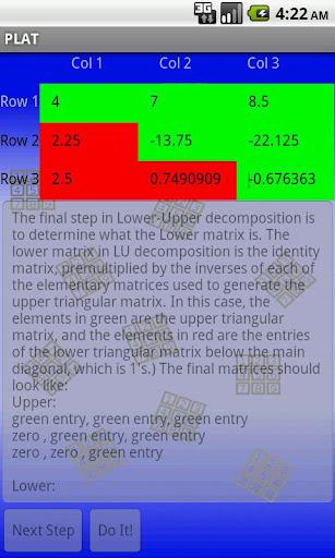 Pocket Linear Algebra Tutor