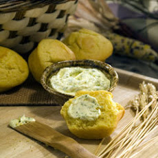 Cowboy Corn Muffins With Cilantro Spread