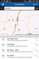 Screenshot of BTC Bank Mobile