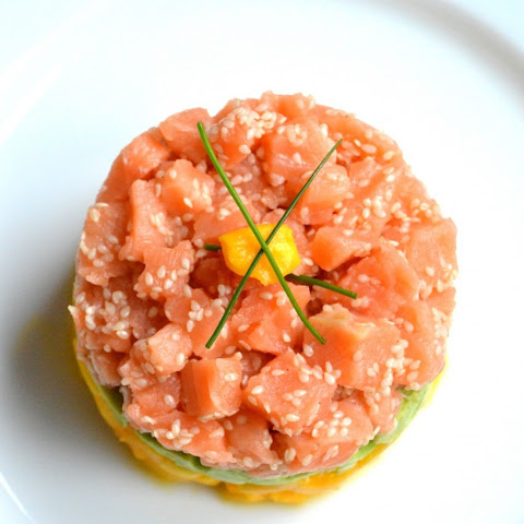 Salmon Tartare with Avocado & Mango