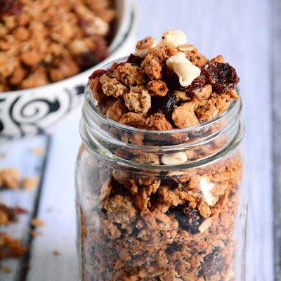 White Chocolate & Cranberry Quinoa Granola