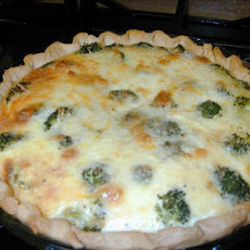 Italian sausage-Broccoli Quiche