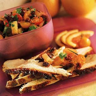 Turkey Breast with Dried Cranberry Salsa