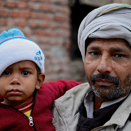 Father and Son in Agra, India by Chris Bannocks - People Family ( father and son )