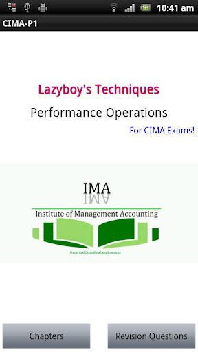 Performance Operations CIMA P1