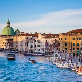 Lights and waves by Nicola Ibba - City,  Street & Park  Vistas ( water, boats, venice, sea, architecture, italy )