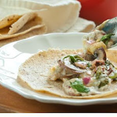 Chipotle Mushroom and Goat Cheese Queso