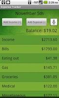 Screenshot of ExpenseTracker