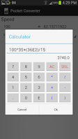 Screenshot of Pocket Converter (Units)