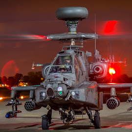 AH-64 Apache  by Nigel Conniford - Transportation Helicopters ( helicopter, gunship, r.a.f, apache, ah-64 )