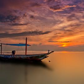 good morning by Ahmad Sahroni - Transportation Boats