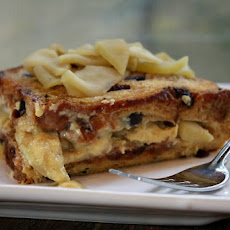 Cinnamon Raisin Overnight French Toast w/ Apple Filling