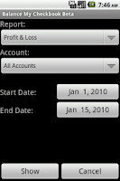 Screenshot of Balance My Checkbook Beta