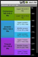 Screenshot of Geological Time Scale