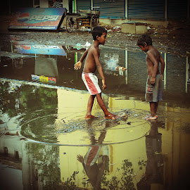 Monsoon Children by Chris Bannocks - Babies & Children Children Candids