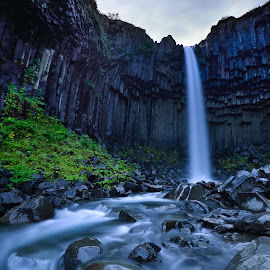 Svartifoss by Lucian Satmarean - Landscapes Waterscapes ( water, svartifoss, iceland, waterfall, long exposure, flow )
