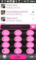 Screenshot of GO CONTACTS - Blk Glit Pink