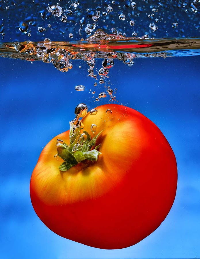 Tomatto by Irwan Kairuman - Food & Drink Ingredients ( water, fruit, macro, splash, closeup )