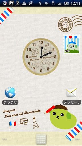 ClockWidget MAME-SHIBA France