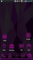 Screenshot of Next Launcher - PurpPink Theme
