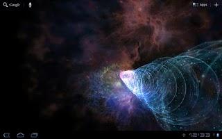 Screenshot of Galactic Wormhole 3D Wallpaper
