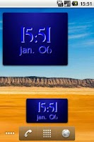 Screenshot of Digital Clock Widget