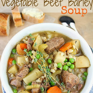 The Best Ever Slow Cooker Vegetable Beef Barley Soup