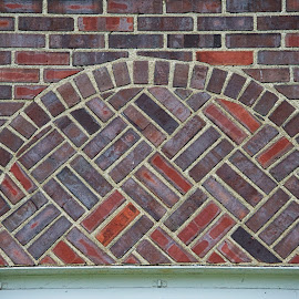 Fancy Brickwork by Hugh Hazelrigg - Buildings & Architecture Architectural Detail ( home, detail, building, bloomington, architecture, house, public )