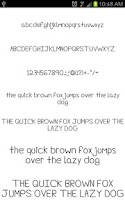 Screenshot of Fonts Hand for FlipFont® Free