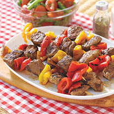 Lamb Kebabs with Roasted Peppers