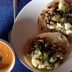 Kala Jeera Scented Tomato and Red Lentil Soup with Veggie Stuffed Rotis