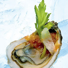 Oysters with Bloody Mary Granita