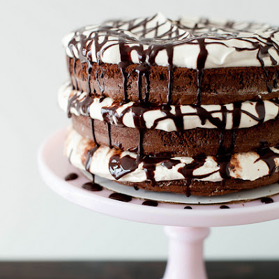 Boozy Brownie Mudslide Layer Cake