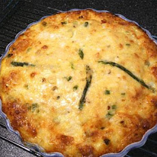 Holiday Crustless Crab Quiche