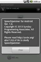 Screenshot of SpeechJammer for Android