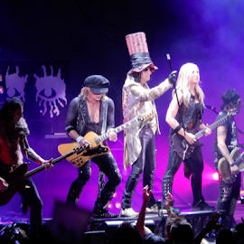 Alice Cooper Band by Deborah Russenberger - People Musicians & Entertainers ( music, rock )