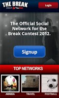 Screenshot of The Break social by YuuZoo