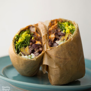 Plantain Black Bean BBQ Wraps
